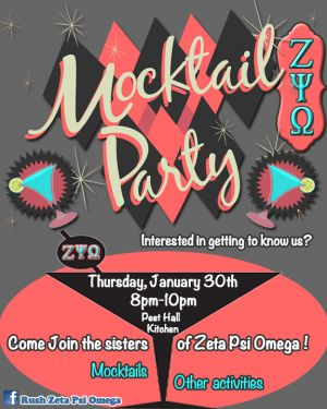 Mocktail Party Poster