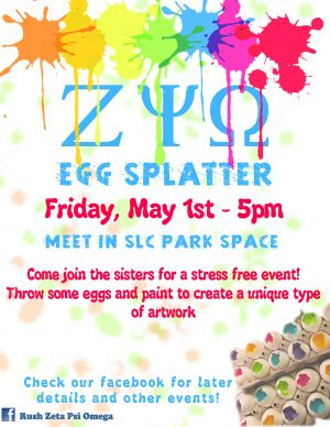 Egg Splatter Event Poster